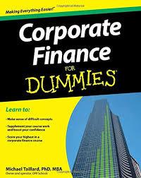 corporate finance for dummies michael taillard 9781118412794