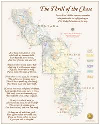 mapcarte 313 365 the thrill of the chase wall map by benchmark