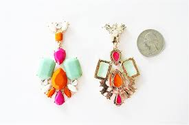 Colorful Chandelier Earrings Multi Colored Earrings Chandelier Earrings With Mixed Color