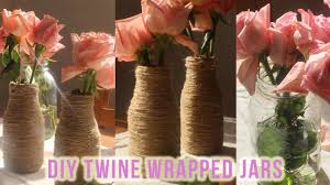 diy twine jars rustic wedding centerpieces youtube