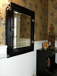 bathroom rustic white bathroom mirror and wall sconce lighting
