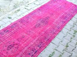 Overdyed Runner Rug Pink Overdyed Rug Realvalladolid Club