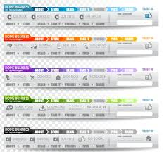 website menu design free creative website menu designs vector 02 titanui