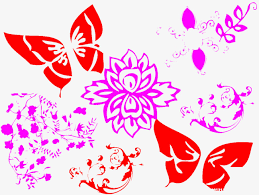 paper cut pattern butterfly pattern flower png image and