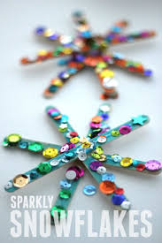 sparkly snowflake craft for kids kid activities parents and teacher
