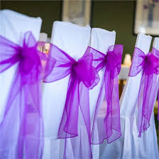 purple chair sashes robert s real wedding purple chair sashes purple chair