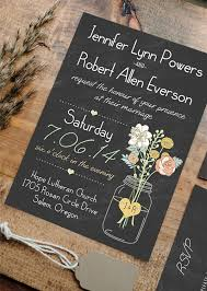 rustic wedding invitation boho rustic wedding invitations jars heart chalkboard ewi369