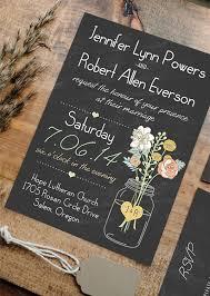 jar wedding invitations boho rustic wedding invitations jars heart chalkboard ewi369