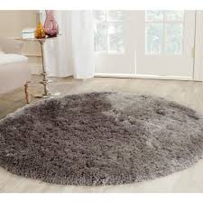 safavieh malibu shag charcoal 5 ft x 5 ft round area rug mls431c