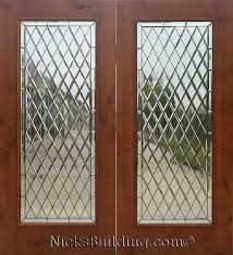 Wood Patio Doors Knotty Alder Wood Patio Doors With Chateau Glass