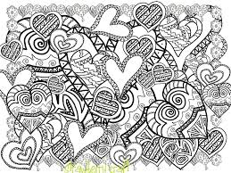 zentangle inspired hearts hearts line art heart coloring