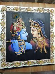 ornamental radha krishna quilling works krishna