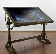 Drafting Table With Parallel Bar Fancy Ideas Glass Drafting Tables Top Table With Light Parallel
