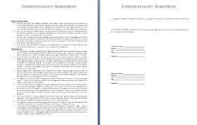 Non Disclosure Statement Template by Sle Non Disclosure Agreement Confidentiality Agreement Sle