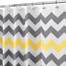 Grey And Yellow Shower Curtains Interdesign Chevron Shower Curtain 72 X 72 Inch Gray