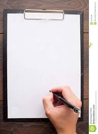 blank paper to write clipboard with blank sheet of white paper and pen royalty free blank clipboard paper