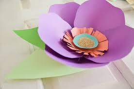 diy hand cut paper flowers project nursery