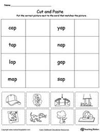 en word family match picture with word word families phonics