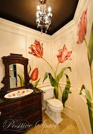 Orange Powder Room A Powder Room With A Touch Of Whimsy U2013 Positive Space