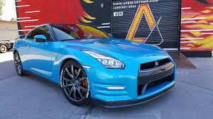 nissan sports car blue nissan wraps wrapfolio