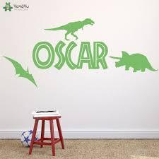 stickers pour chambre d enfant dinosaure personnalisé nom sticker pour chambres d enfants de mur de