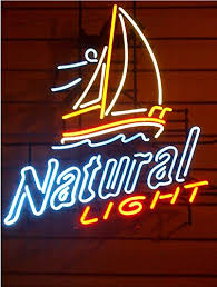 light up beer signs natural light beer real neon light neon pinterest light beer