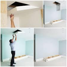 ceiling door ladder u0026 attic hatch door ladder home depot