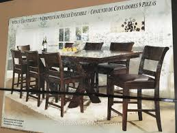 counter height dining room table sets awesome 9 piece counter height dining room sets photos home