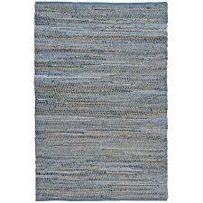 Hemp Area Rug Blue Woven Denim Hemp Area Rug 9 X 12 9 X 12