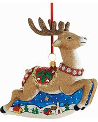 spectacular deal on classic reindeer ornament by reed