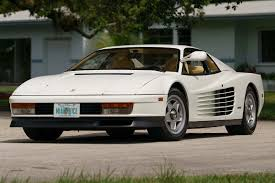 all the ferraris testarossa from miami vice heading to auction by car magazine