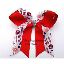 fourth of july hair bows 4th of july cheer hair bow 4th of july bow fireworks hair bow