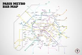 Portland Metro Map by Paris Metro Map Map With Bars Near Every Stop Thrillist