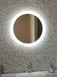 fashionable idea round bathroom mirror with lights vanity lighted