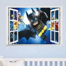 online buy wholesale avengers wall murals from china avengers wall cartton 3d window batman super broken wall stickers kids room decoration movie 3d mural art