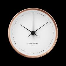 koppel 22 cm wall clock copper with white dial