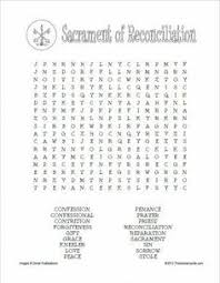 first reconciliation activity worksheet a list of second grade