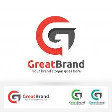 g letter brand logo g letter in a circle with flat shadow vector