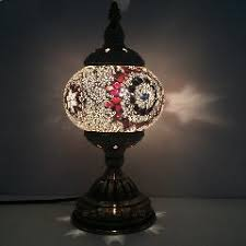 Mosaic Table Lamp Mediterranean Style Art Deco Turkish Mosaic Table Lamp Handcrafted