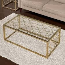Quatrefoil Side Table Glass And Metal Sofa Table Foter