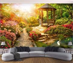 Wall Mural Sunlight In The Compare Prices On Garden Wall Mural Online Shopping Buy Low Price