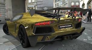 lamborghini gold lamborghini aventador lp700 4 gold chrome gran turismo 5 72592
