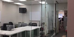 Glass Dividers Interior Design by Glass Wall Glass Office Partitions Divider Design Fabrication