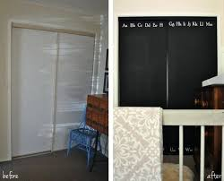 Painting Sliding Closet Doors Painting Sliding Closet Doors Chalkboard Alphabet Wardrobe Door