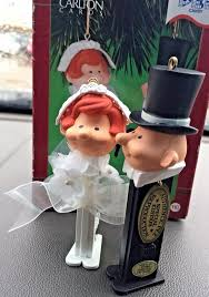 carlton cards pez candy christmas ornaments here comes the bride