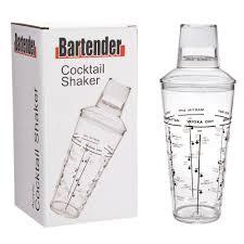 martini shaker silhouette bartender acrylic cocktail shaker 750ml u2013 giftbox