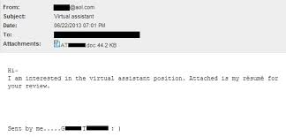How To Send Resume Via Email Sample by Sending A Resume Via Email Sample 284