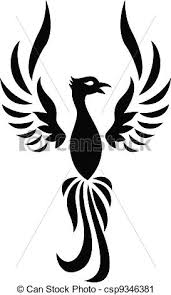 phoenix tatuagem silueta csp9346381 aves desenhos e imagens