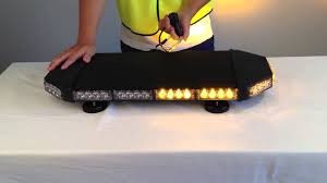 warning mini lightbar black color