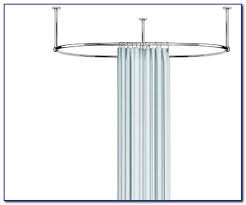 Ceiling Mount Drapery Rod Oval Shower Curtain Rod Ceiling Mount Curtain Home Design
